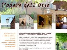 Agriturismo Toscana : PODERE DELL'ORSO(Lorenzana)